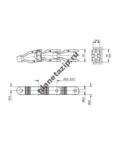 cc 600 nc 400x500 - Цепь ящичная поворотная CC 600 NC  752.75.05