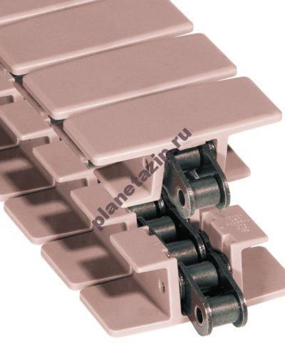 lf 1873 tab k600 400x500 - Цепь пластинчатая пластиковая LF 1873 TAB-K600 152,4 мм   (L1873604751)