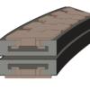 Сектор поворотный одноручьевой 880/881 K750 R500/90  k=190,5мм 72221612 – изображение 2