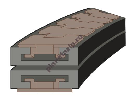 Сектор поворотный одноручьевой 880/881 K750 R500/90  k=190,5мм 72221612