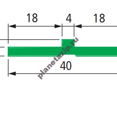QIP Shot Screen 073 400x398 - Профиль скольжения Т 40мм S0242/63671
