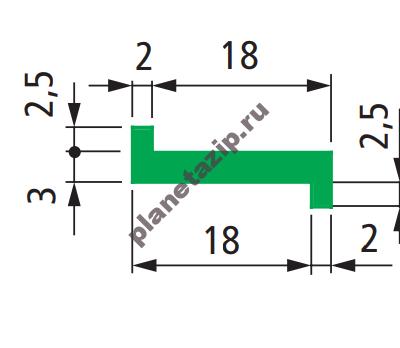 QIP Shot Screen 124 400x348 - Профиль скольжения Z 20мм P20250