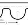 Ремень зубчатый усиленный HTD 3008 8M CXP ContiTech длина 3008 мм 376 зубьев – изображение 3