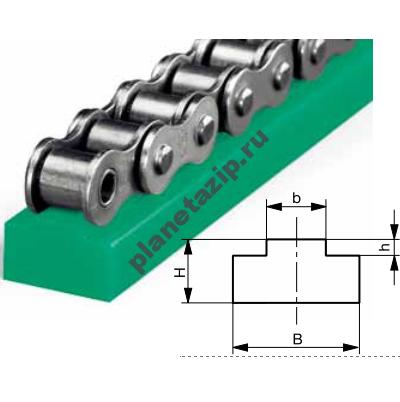 T 400x402 - Направляющая для однорядной роликовой цепи 06B-1 тип T 221010002
