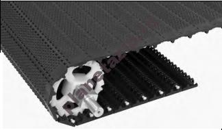 SeamFree Open Hinge Nub Top - Модульная лента Intralox Series S 800 SeamFree  Open Hinge Nub Top