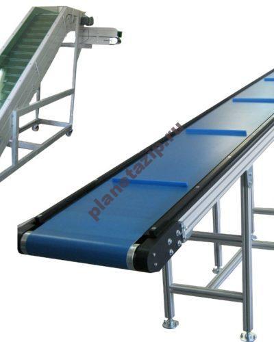 конвейеры 1 400x500 - Ленточный конвейер Г-образный с ПВХ/ПУ лентой