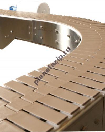 конвейер поворотный 400x500 - Пластинчатый конвейер поворотный