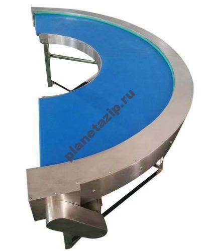 ленточный конвейер2 400x500 - Поворотный ленточный конвейер с ПВХ/ПУ лентой