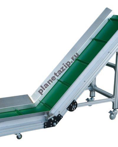 L образный ленточный конвейер 1 400x500 - Ленточный конвейер L-образный с ПВХ/ПУ лентой