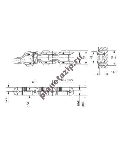 cc 600 tnc 400x500 - Цепь CC 1400 XL 752.32.05