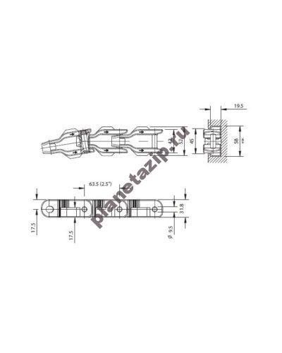 cc 631 tnc 1 400x500 - Цепь CC 631 TNC 752.45.04