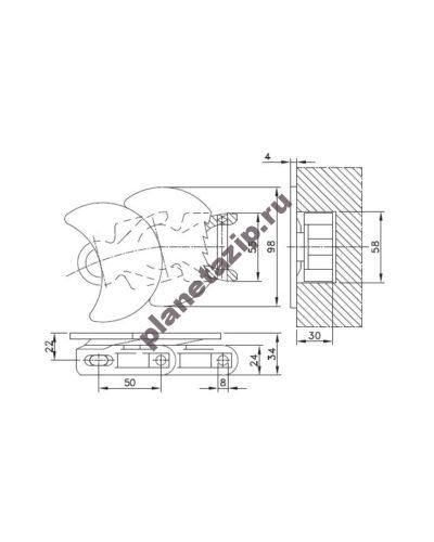 wlf 1710 k 400x500 - Цепь WLF 1710 TAB K L1710WLFTABK