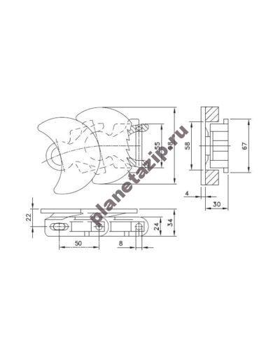 wlf 1710 tab k 400x500 - Цепь WLF 1713 K L1713WLFK
