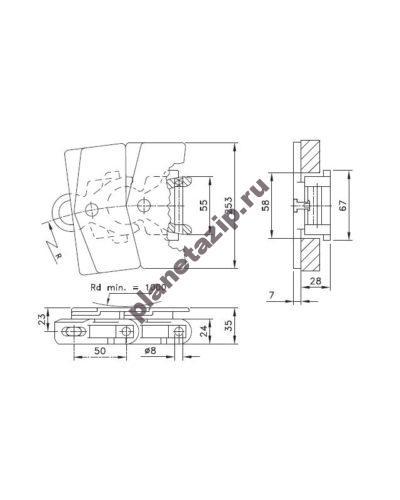 wlf 1713 tab k 400x500 - Цепь  CC 600 TXL 752.72.04