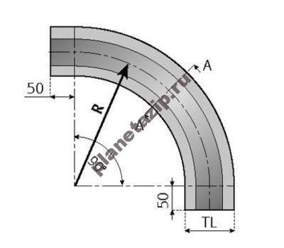 skizze kurve 4 510x349 400x349 - Направляющая для цепи 879 – 880 – 881 – 881O _ K325-350-450-750