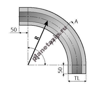 skizze kurve 6 510x349 400x349 - Направляющая для цепи 877-878-879-880-881O-TAB K325-330-450