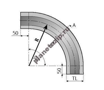 skizze kurve 8 510x349 400x349 - Направляющая для цепи 882-TAB-K450-750-1000-1200