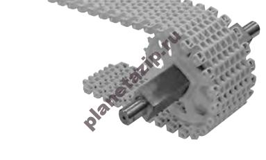 modulnaja lenta intralox series s 2400 mold to width radius flush grid 2.2 - Модульная лента Intralox Series S 2400 Mold to Width Radius Flush Grid (2.2)