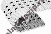 modulnaja lenta intralox series s 2400 turning radius flush grid 2.8 with insert rollers - Модульная лента Intralox Series S 2400 Tight Turning Radius Flush Grid (2.4) with Insert Rollers