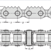 Роликовая  цепь с зубчатыми пластинами 20A-Z9 – изображение 3