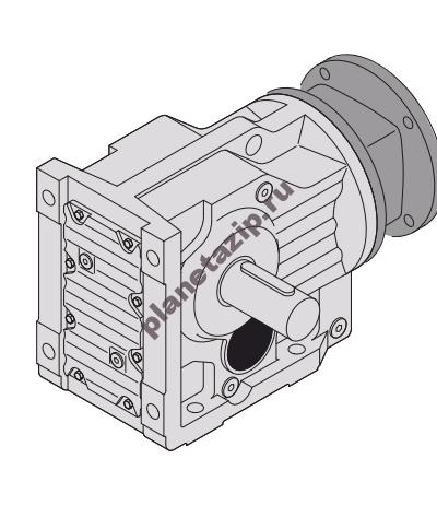 k 1 400x473 - Коническо-цилиндрический редуктор K107