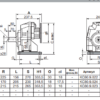 Мотор-редуктор цилиндрический 802C (i=43.31)-32.3-B5-3.0-836--380-50 (4P) sf=1.1 – изображение 3