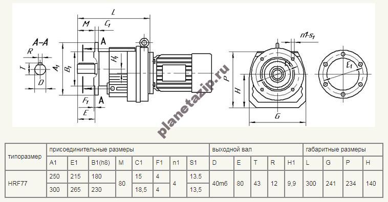 hrf 77 - Мотор-редуктор TR 78F-45,81-31-B5-2,2-660-380-50 (4Р) sf=1,24