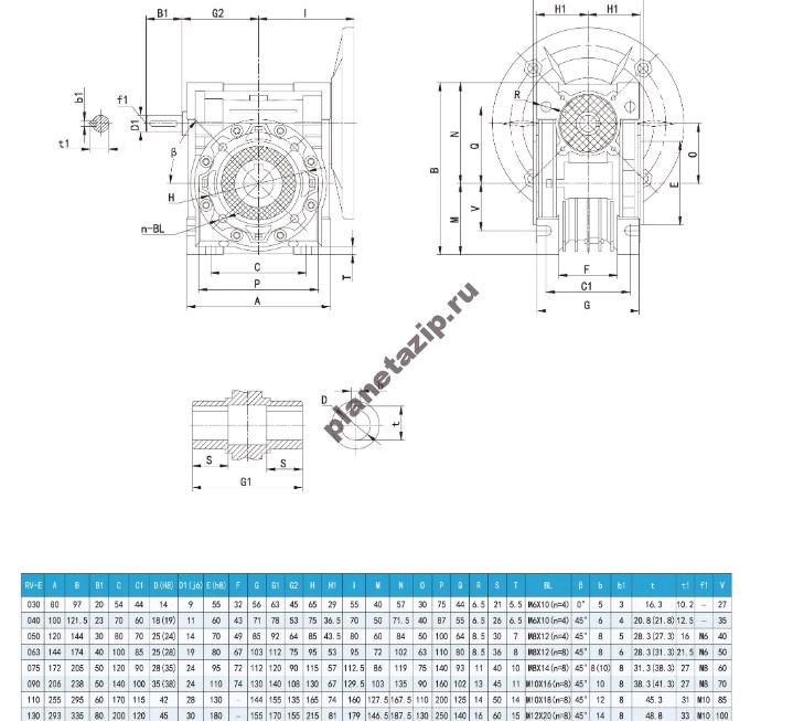 nmrw e - Редуктор NMRV090 i30-E  100B5