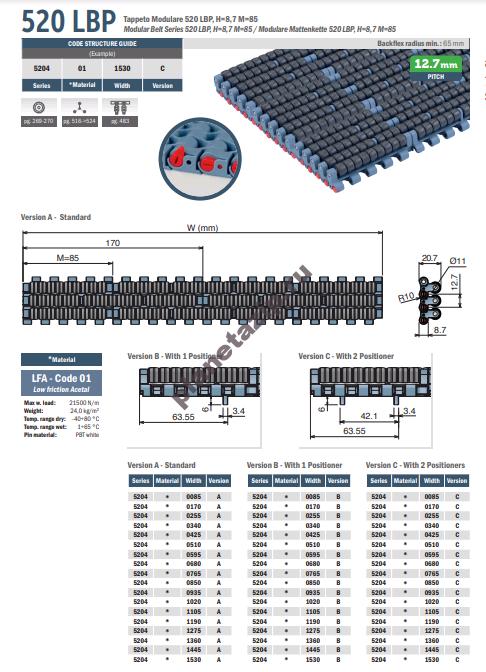 izobrazhenie 2020 11 07 211450 - Лента модульная Movex 520 LBP