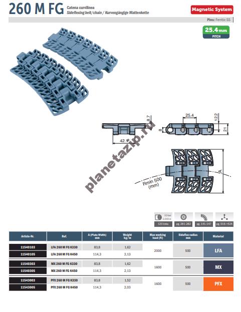 izobrazhenie 2020 11 08 145605 - Лента модульная Movex 260 M FG