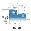 Корпусной подшипник ES202G2 с закрепительным кольцом – изображение 3