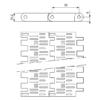 Лента модульная SERIES E50 PERFORATED FLAT TOP – изображение 3