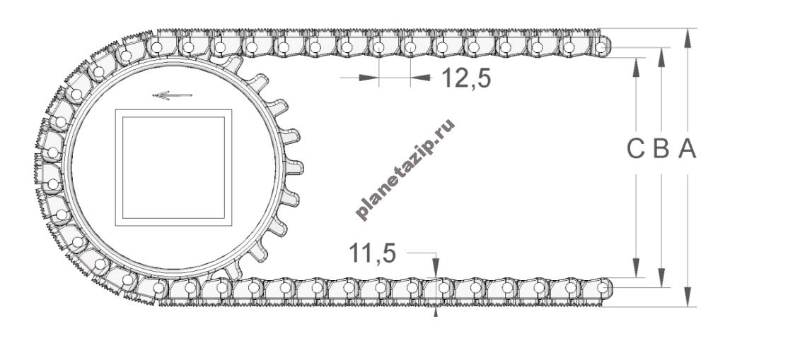 izobrazhenie 2021 04 14 203427 - Лента модульная S. 12-408 F/2 с фрикционными вставками