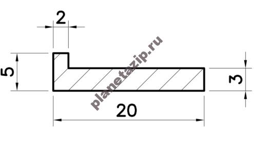 Профиль скольжения L  PL000V / PL000N