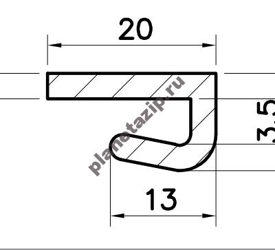 izobrazhenie 2021 04 28 205840 400x363 - Профиль скольжения LK  PLK00V / PLK00N