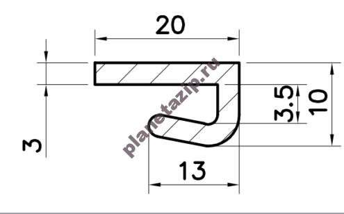 Профиль скольжения LK  PLK00V / PLK00N
