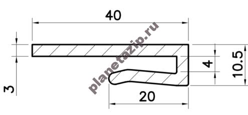 Профиль скольжения LK40 PLK40V / PLK40N
