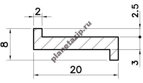 Профиль скольжения Z PZ000V / PZ000N