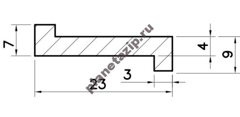 Профиль скольжения ZR PZR00V / PZR00N