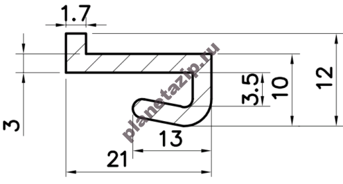 Профиль скольжения ZK PZK00V / PZK00N