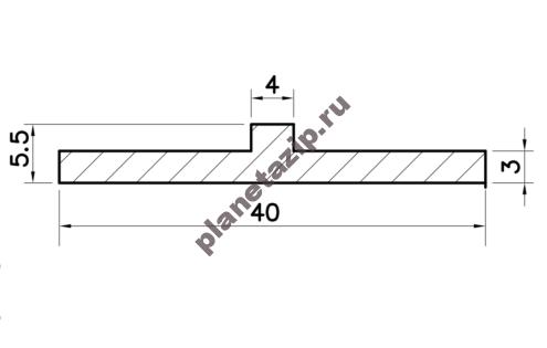 Профиль скольжения T PT000V / PT000N