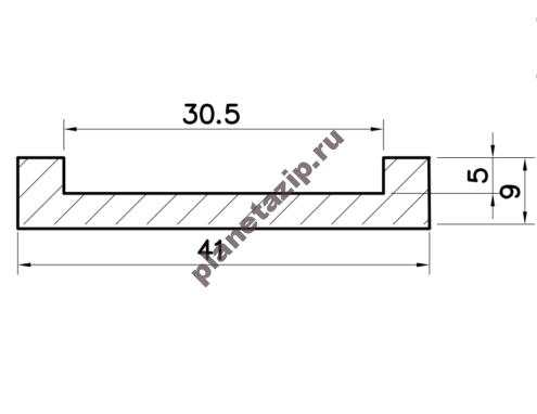 Профиль скольжения U PU000V / PU000N