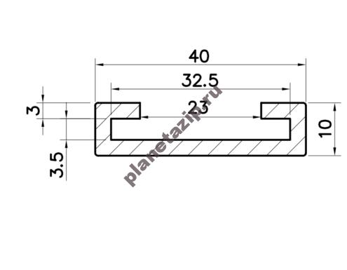 Профиль скольжения C30x3 P3030V / P3030N