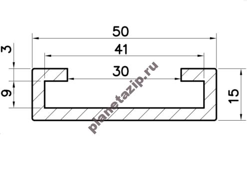 Профиль скольжения C40x8 P4080V / P4080N
