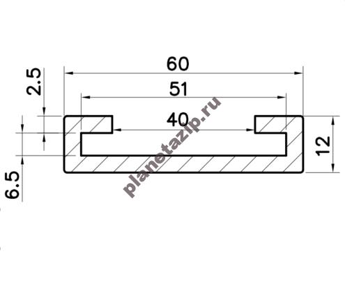 Профиль скольжения C50x5 P5050N