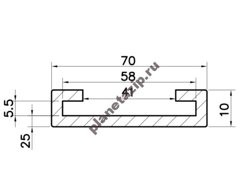 Профиль скольжения C50x6 P5060V  / P5060N