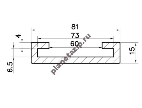 Профиль скольжения C70x6 P7060V / P7060N