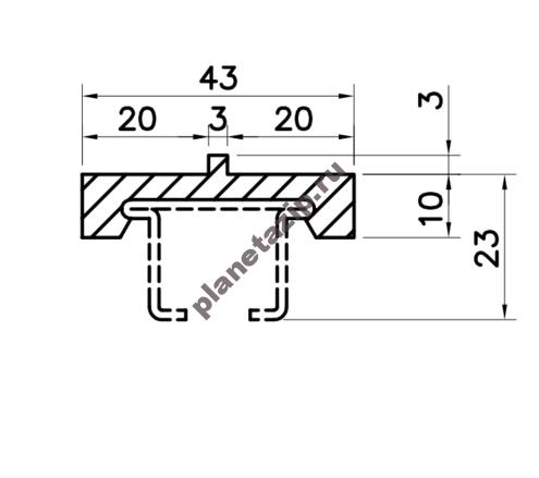 Профиль скольжения C43x13 P4313V / P4313N