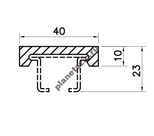 Профиль скольжения C40x10 P4010V / P4010N