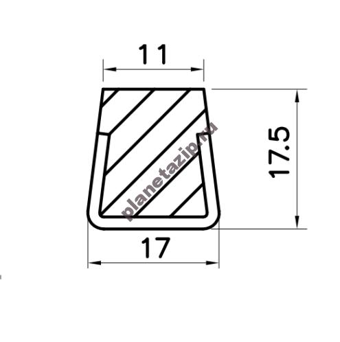 Профиль скольжения PR12WS / PR12WSS / PR12BS / PR12BSS